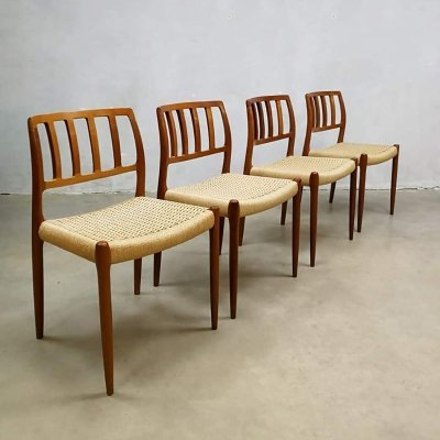Set of 4 'Model 83' chairs by Niels Moller for J. L. Møllers, 1960s