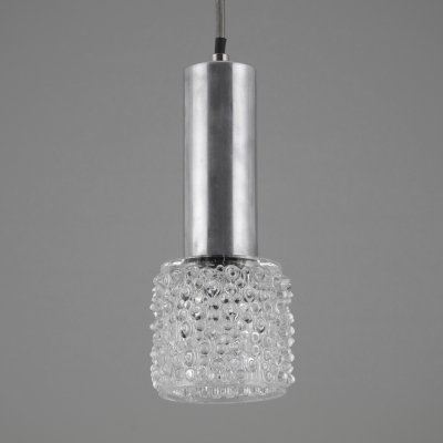 1960s Moulded Czech glass pendant lights