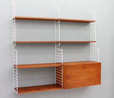 String Shelving System in Teak, 1950s