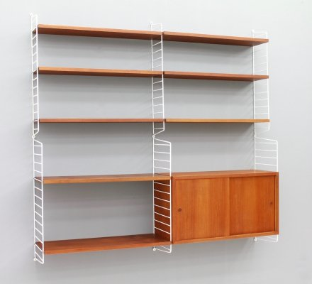 String Shelving in Teak Wood, 1950s