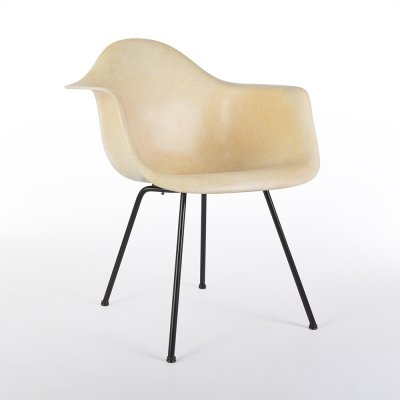 Salmon 1st Generation Zenith Original Vintage Eames DAX Dining Arm Shell Chair