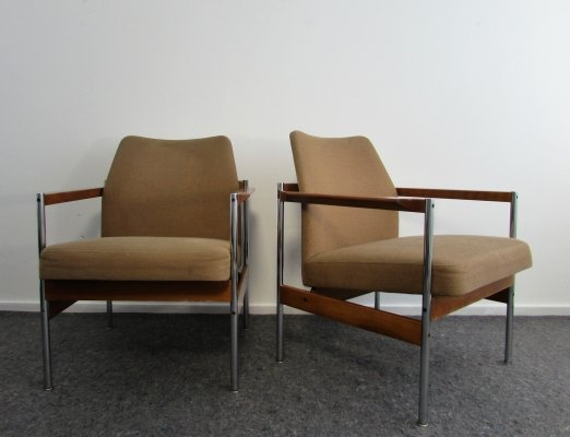 Pair of Vintage Design Arm Chairs, 1960's
