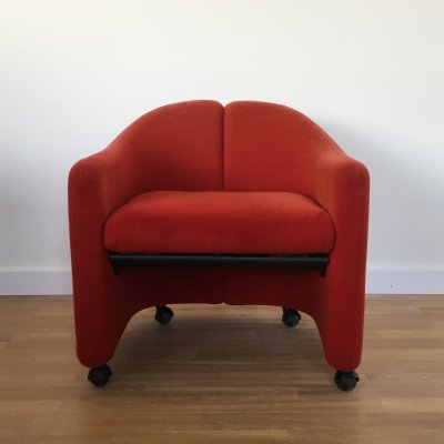 2 x PS142 arm chair by Eugenio Gerli for Tecno, 1980s