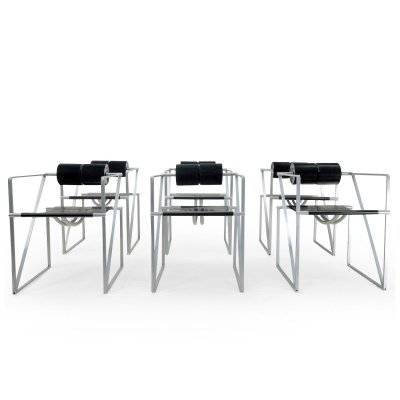Set of 6 Seconda dining chairs by Mario Botta for Alias, 1980s