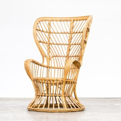 Gio Ponti & Lio Carminati 'Biancamano' wicker chair for Vittorio Bonacina, 1950s