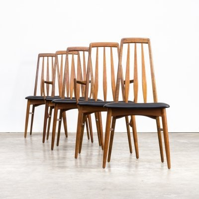 Set of 5 Niels Koefoed 'Eva' dining chairs for Koefoed Hornslet