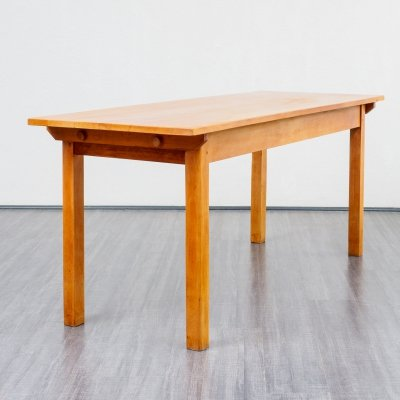 German tavern dining table in solid wood, 1950s