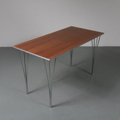 1990s Side / dining table by Piet Hein, Bruno Mathsson & Arne Jacobsen