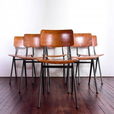Set of 6 'Model 202' chairs in pagwood by Marko Holland