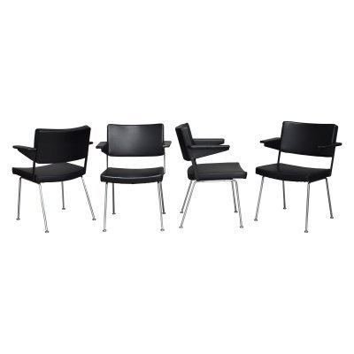Set of four A. Cordemeyer 'model 1265' chairs by Gispen, 1960's