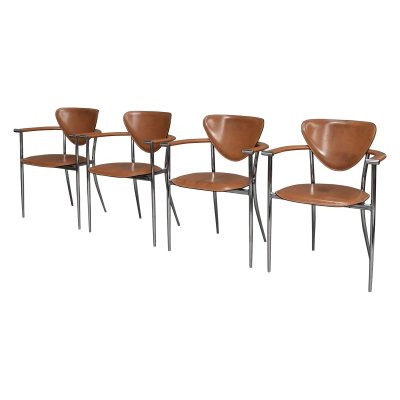 Set of 4 Arrben Italia dining chairs, 1980's