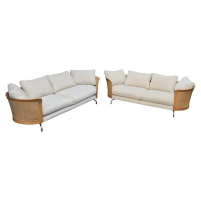 Pair of Giorgetti 'Virginia' sofa's by Antonello Mosca, 1980s