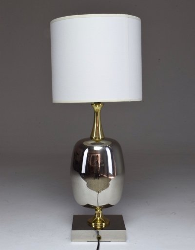 French Vintage Brass Table Lamp, 1970's