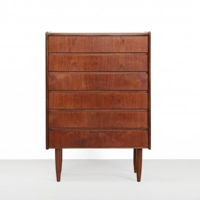 Vintage teak danish design chest of drawers