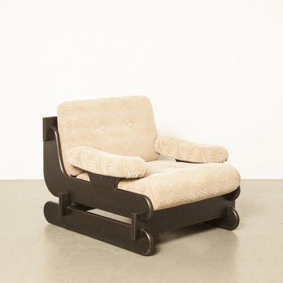 Black oak seventies armchair