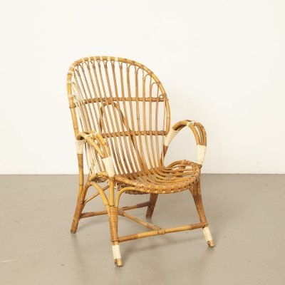 Rattan armchair by Rohé Noordwolde (labeled)