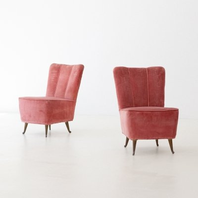 Italian Easy Chairs by ISA, 1950s