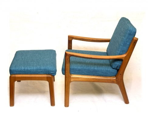Senator Lounge Chair & Ottoman by Ole Wanscher for Cado
