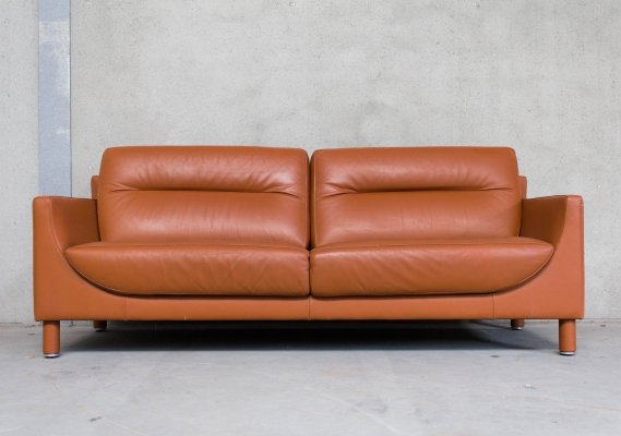 Brown Leather Sofa by De Sede