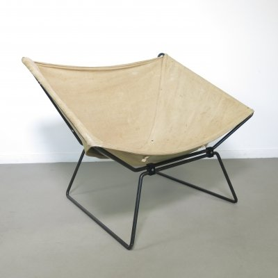 First edition 'AP 14' butterfly chair by Pierre Paulin for Polak, 1950s