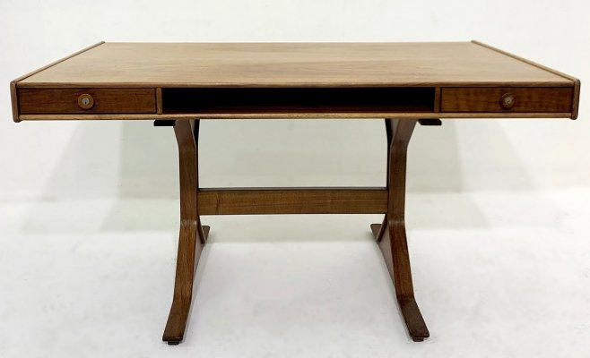 Gianfranco Frattini Rosewood Writing Desk for Bernini, 1950s