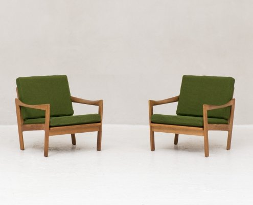 Pair of easy chairs by Illum Wikkelso for Niels Eilersen, 1960