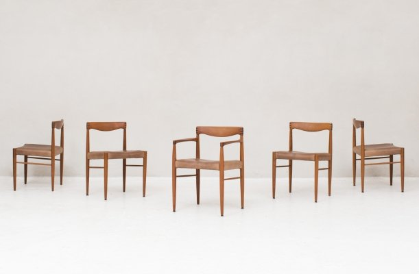 Set of 5 dining chairs by Henry W. Klein for Bramin, 1960s