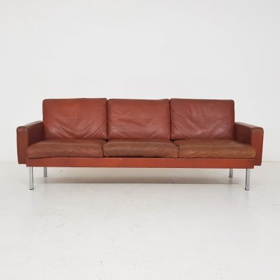Leather Model Bz54 sofa by Martin Visser for 't Spectrum, The Netherlands 1968