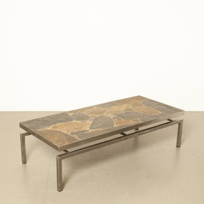 Flag stone coffee table, 1960s