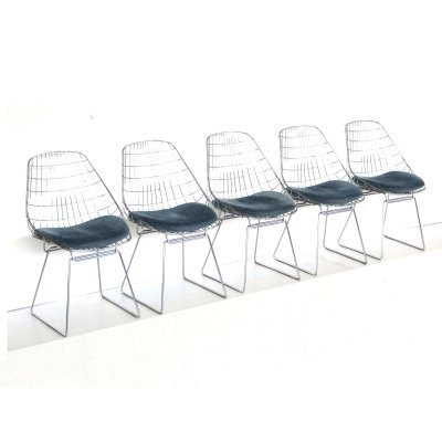 Set of 5 vintage 'Model SM05' chairs by Cees Braakman for Pastoe