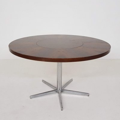 Round rosewood dining table by Emü, Germany 1960's