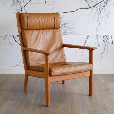 Leather GE 265 Lounge Chair by Hans Wegner for Getama, 1979
