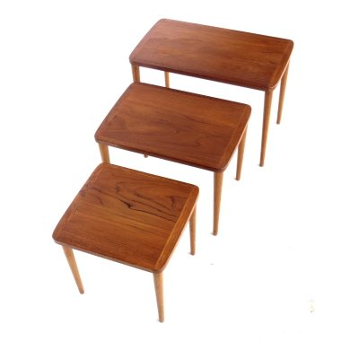 Vintage set of three side tables / nesting tables, 1960s