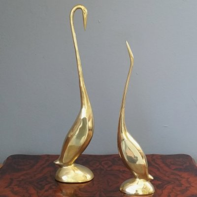 Set of 2 Brass Birds, 1960s
