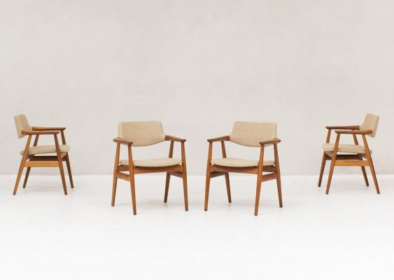 4 x Dining chair by Svend Aage Eriksen for Glostrup, Denmark 1960s