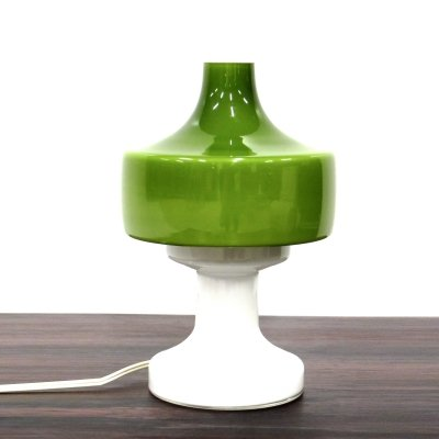 Green vintage Dijkstra desk lamp / bed lamp