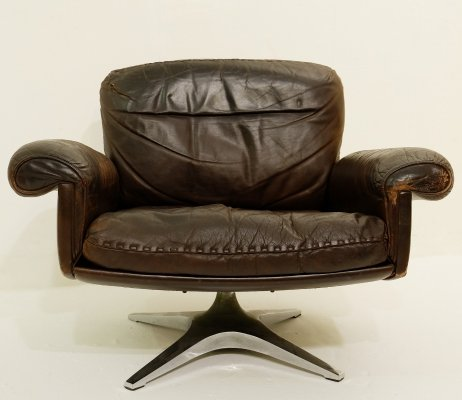 'DS31' Swivel Lounge Armchair by De Sede, Switzerland 1970s