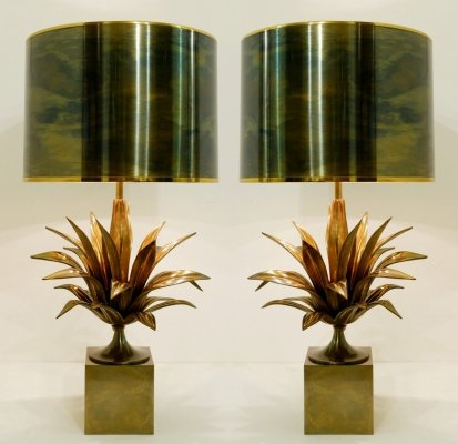 Pair of Bronze And Brass 'Maison Charles' Table Lamps