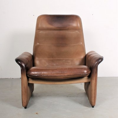 Vintage De Sede 'DS50' lounge chair in neckleather