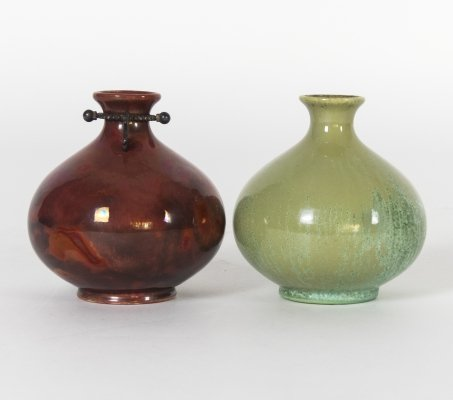 Pair of 'Monza 30' small vases by Guido Andloviz for S.C.I. Laveno, 1930s