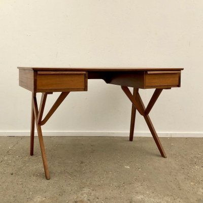 Teak vintage writing desk, 1960s