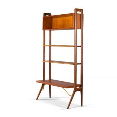 Danish Freestanding Teak Wall Unit by Kurt Østervig, 1960s