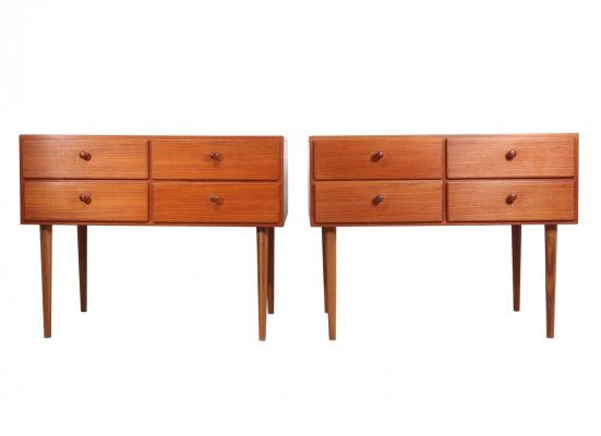 A Pair of Mid Century Danish Teak Chests