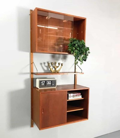 Midcentury design wall unit by Poul Cadovius for Royal system
