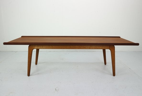 Teak & Oak Coffee Table by Aksel Madsen Bender for Bovenkamp, 1960s