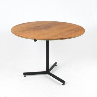Italian 50s table with reversible (fabric/wood) top