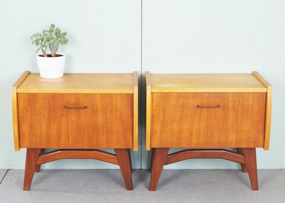 Vintage two-tone night cabinets, 1960s