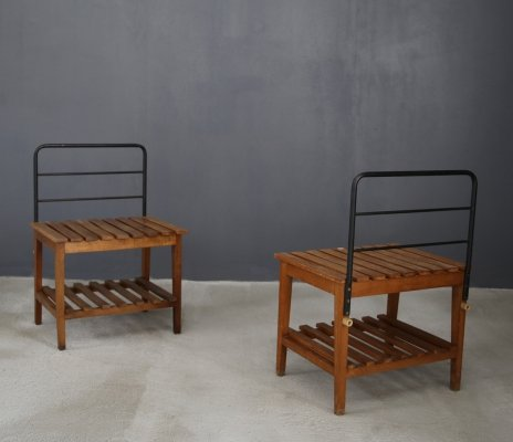 Set of 4 Benches or luggage racks, 1950s