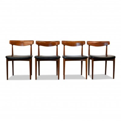 Vintage Danish Knud Faerch teak dining chairs
