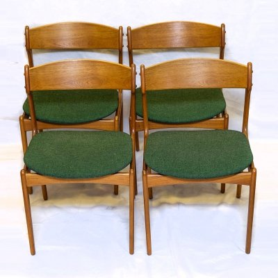 Set of 4 Model 49 Dining Chairs by Erik Buch, 1960s